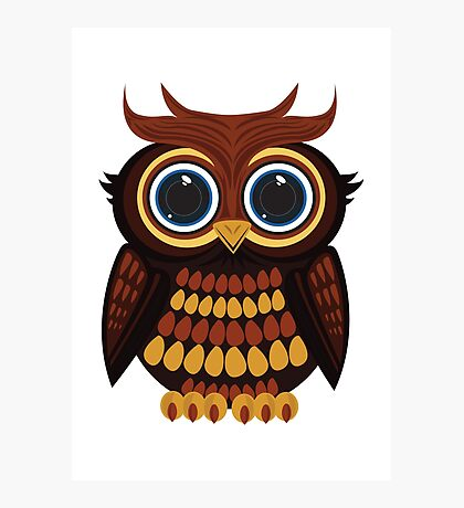 Friendly Owl Photographic Print