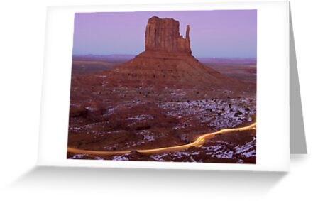 West Mitten and Light Trail by Mitchell Tillison