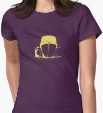 VW Beetle - Yellow Womens Fitted T-Shirt