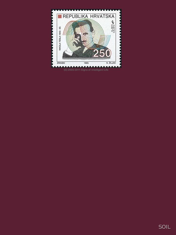 Tesla Stamp (Croatia) von SOIL
