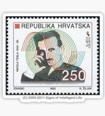 Tesla Stamp (Croatia) Sticker