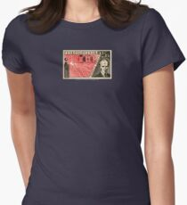 Tesla Stamp (Czechoslovakia) Womens Fitted T-Shirt