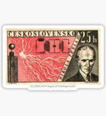 Tesla Stamp (Czechoslovakia) Sticker