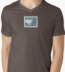 Tesla Stamp (Yugoslavia) II Men's V-Neck T-Shirt