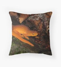 Eastern Newt on Forest Floor Throw Pillow