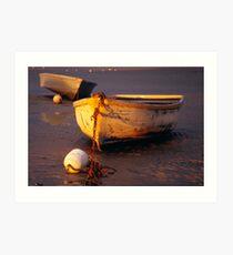 Dinghy On Sandbank (2) Art Print