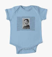 The Patents of Nikola Tesla One Piece - Short Sleeve