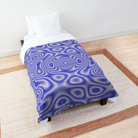 Blue Cosmic Liquid Pattern Comforter