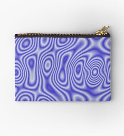 Blue Cosmic Liquid Pattern Zipper Pouch