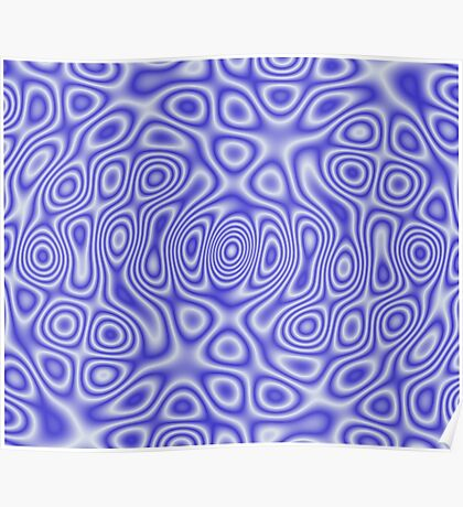 Blue Cosmic Liquid Pattern Poster