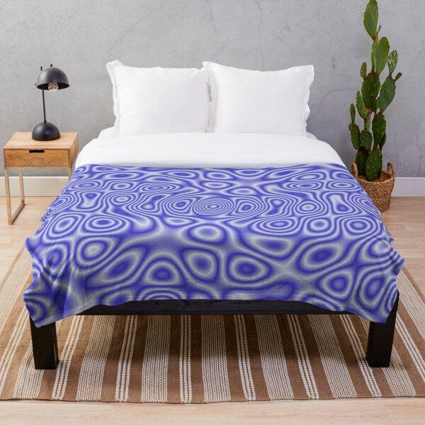 Blue Cosmic Liquid Pattern Throw Blanket
