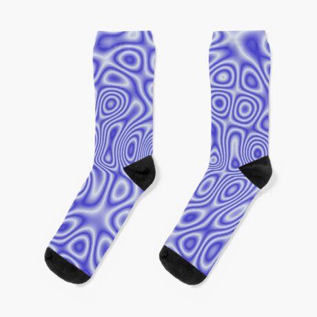 Blue Cosmic Liquid Pattern Socks