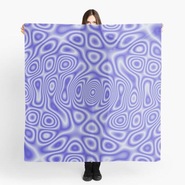 Blue Cosmic Liquid Pattern Scarf