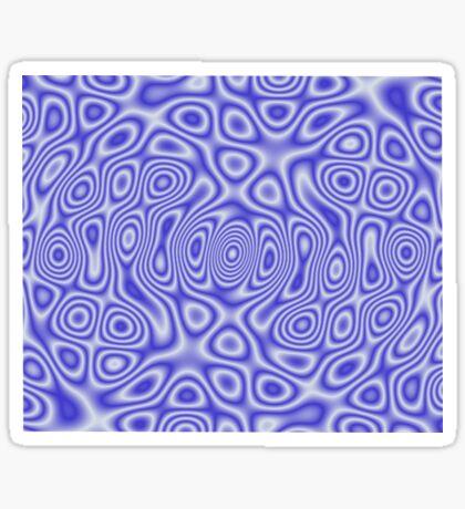Blue Cosmic Liquid Pattern Sticker