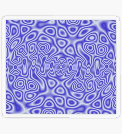 Blue Cosmic Liquid Pattern Transparent Sticker