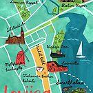 Map of Loviisa by Titta Lindström