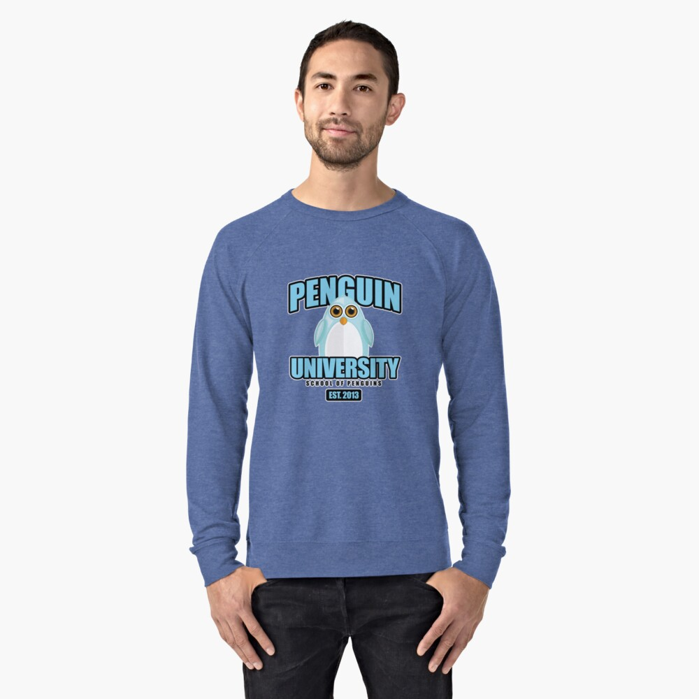Penguin University - Blue Lightweight Sweatshirt Front