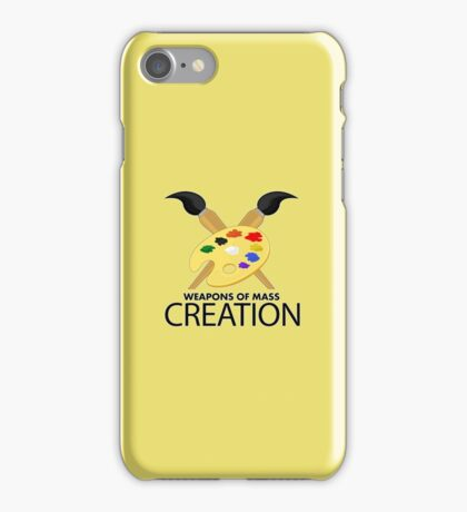 Weapons of mass creation - Yellow iPhone Case/Skin