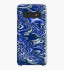 Navy and Blue Marbling Case/Skin for Samsung Galaxy