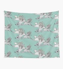 Flying Bull Terriers Wall Tapestry