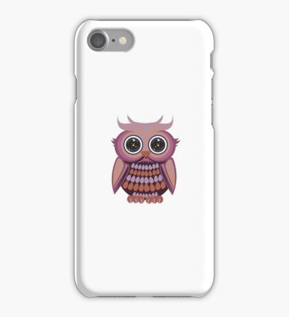 Star Eye Owl - Purple Orange iPhone Case/Skin