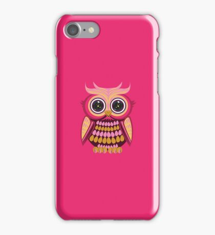 Star Eye Owl - Pink Orange 3 iPhone Case/Skin