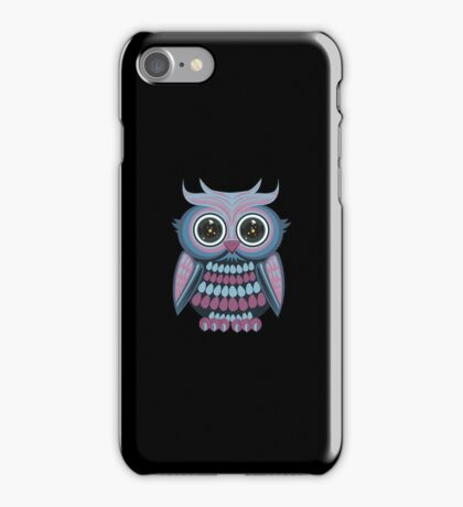 Star Eye Owl - Blue Purple 2 iPhone Case/Skin