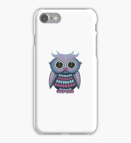 Star Eye Owl - Blue Purple iPhone Case/Skin