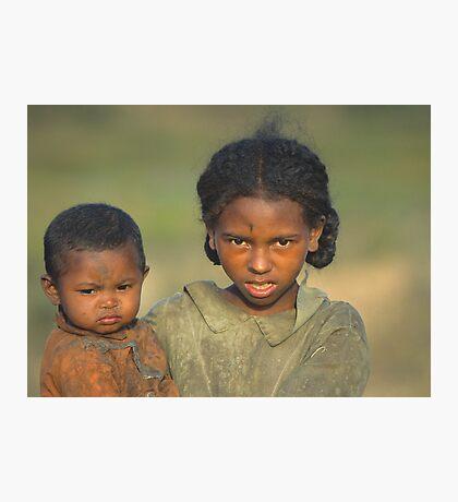 Malagasy Children Photographic Print