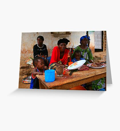 Street Vendors - Democratic Republic of Congo Greeting Card