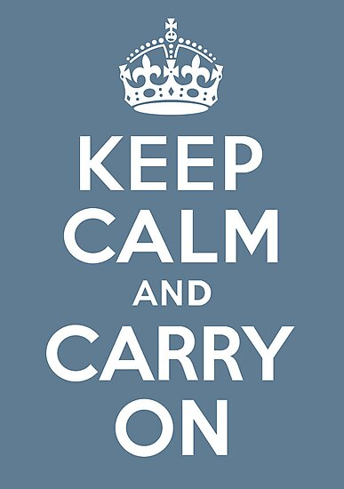 keep calm and carry on by OTBphotography