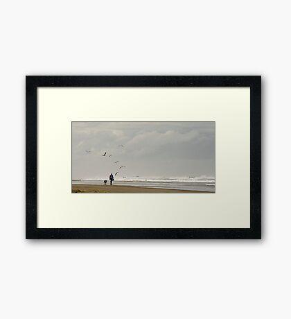 Beach Combers - Baylys Beach NZ Framed Print