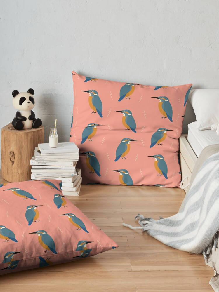 Alternate view of Kingfishers everywhere Floor Pillow