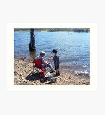 """The master and the apprentice"" at Lake Eucumbene. Art Print"
