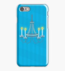 Chandelier hanging light with candles iPhone Case/Skin