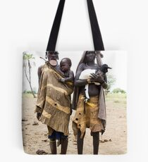 THREE GENERATIONS OF THE MURSI TRIBE Tote Bag