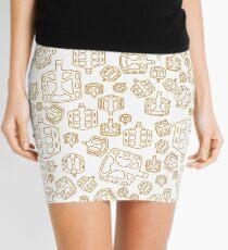 Golden Pedal  Mini Skirt