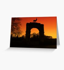 Stag Gate Greeting Card