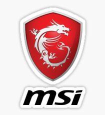 MSI Logo Potrait Black Sticker