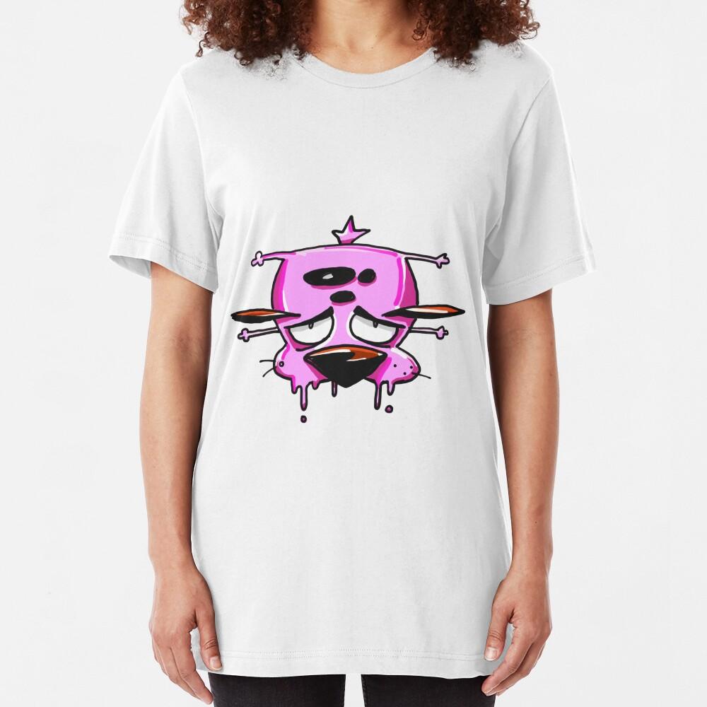 Courage the Cowardly Dog™ Splattered Slim Fit T-Shirt