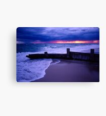 Stormy Sky over Mcrae Beach Canvas Print