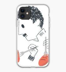 Baile de Chaplin con tenedores y pan Vinilo o funda para iPhone