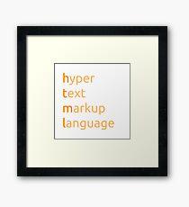HTML - hyper text markup language Framed Print