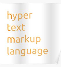 HTML - hyper text markup language Poster