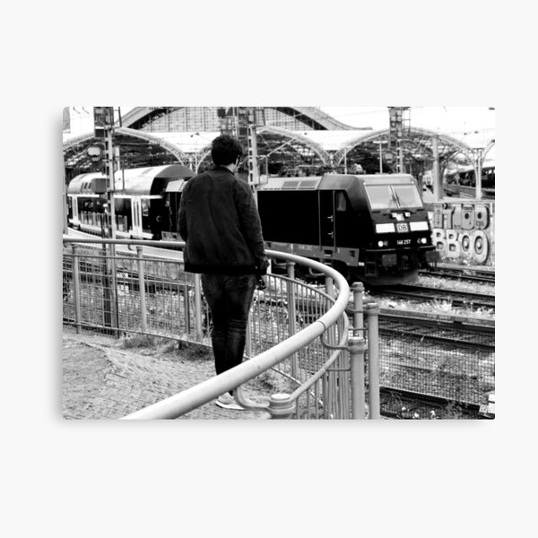 Watching the Trains Canvas Print