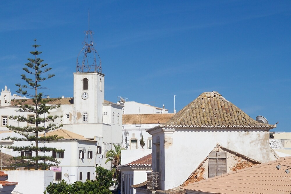 Albufeira Rooftops, Algarve, Portugal by Rob Cole