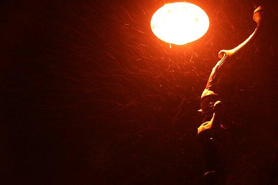 Swirly Lamp (Canterbury in the Snow 2010) by JJFA