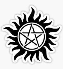 Supernatural Anti-possessionTattoo in black Sticker