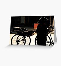 Vietnam - Transport écologique Greeting Card