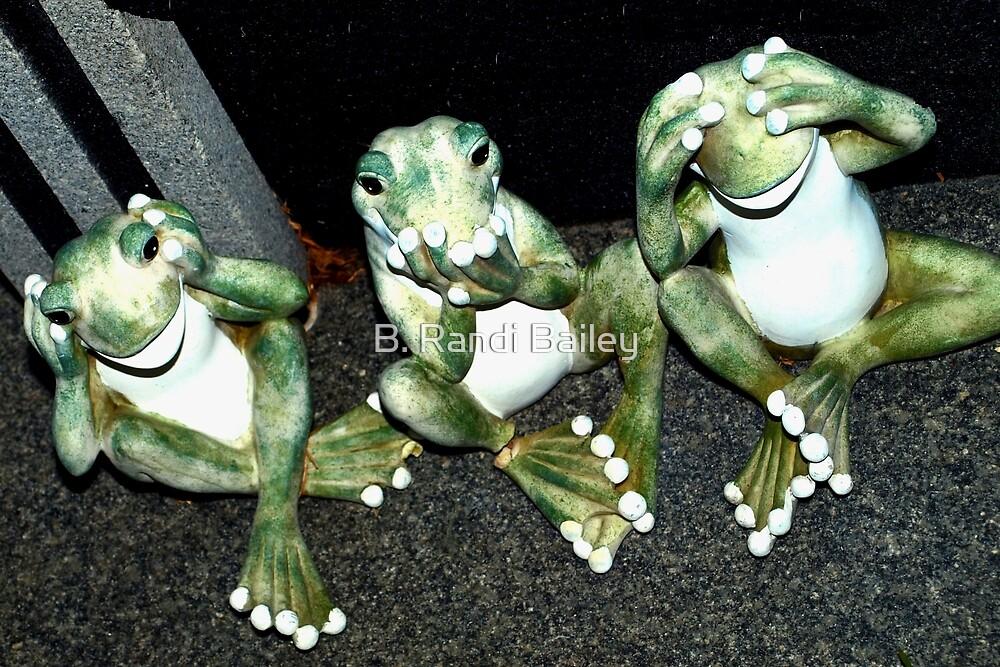 Three wise froggies by ♥⊱ B. Randi Bailey